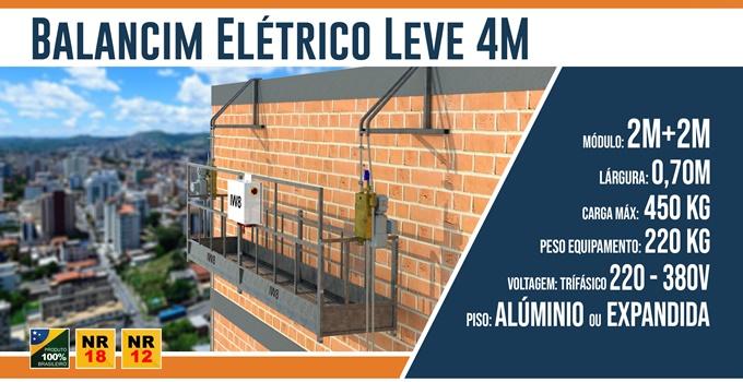 Balancim Elétrico Leve 4 Metros