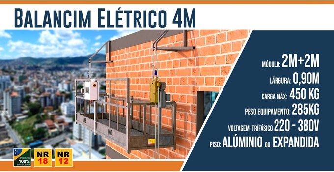 Balancim Elétrico 4 Metros